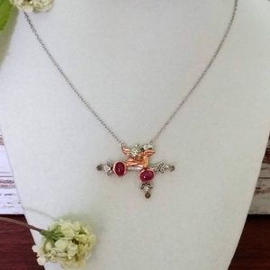 Jewelry - Sterling & Rose Gold Angel Pendent